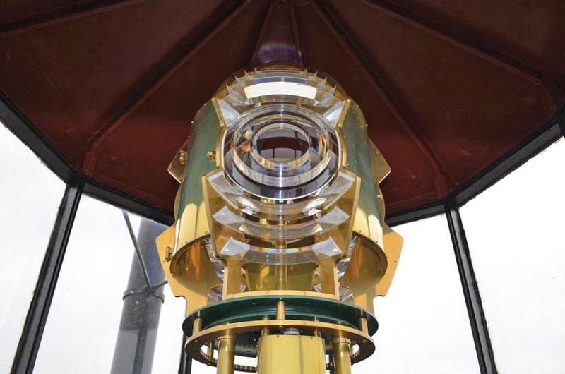 Exact replica of original lens has been installed in the Lighthouse.