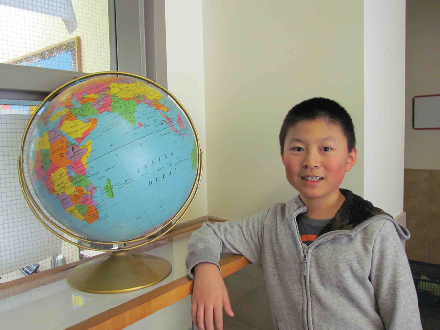 Irvington Middle School sixth-grader Andrew Zhou has qualified to compete in the statewide National Geographic Bee. Photo courtesy of the Irvington Union Free School District