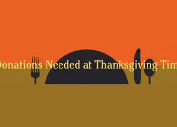 Donations Needed at Thanksgiving Time