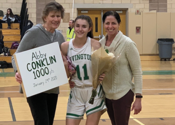 Abby Conklin scored the 1,000th point in her career in a game on January 29. —Photo by the Irvington School District