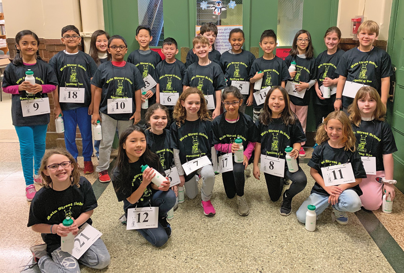 Twenty-one Main Street School fourth and fifth graders earned a spot in the schoolwide spelling bee competition.