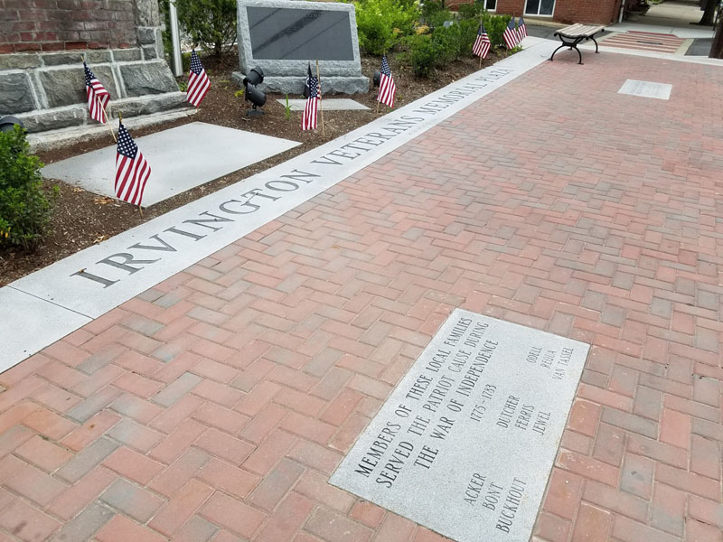 Veteran's memorial in Irvington, New York