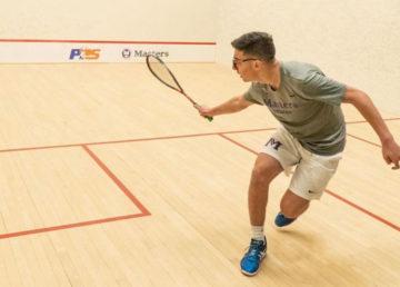 Taha Dinana grew up playing squash in Cairo.
