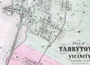 1868 map of Tarrytown by By http://www.geographicus.com/mm5/cartographers/beers.txt - This file was provided to Wikimedia Commons by Geographicus Rare Antique Maps, a specialist dealer in rare maps and other cartography of the 15th, 16th, 17th, 18th and 19th centuries, as part of a cooperation project., Public Domain, https://commons.wikimedia.org/w/index.php?curid=14690145
