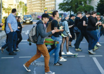 "An astounding 45% of teenagers report being online ""almost constantly"" including while crossing the street."