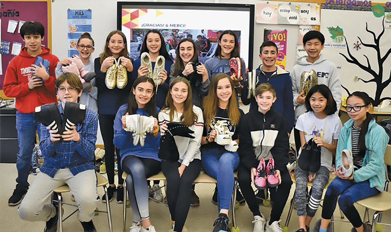 Irvington Middle School students