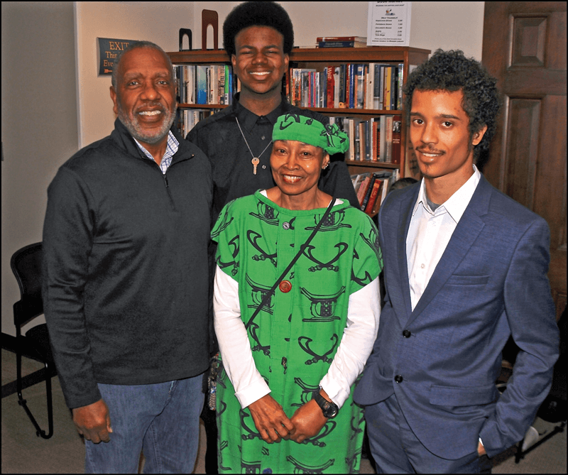 Don Whitely and other artists celebrated Black History Month at Warner Library.