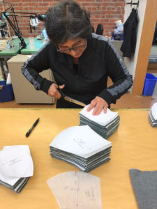 Eileen Fisher worker creates PPE to help with COVID-19 epidemic