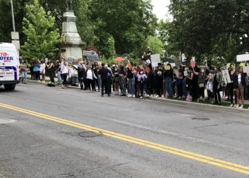 Black lives matter protest in Tarrytown, NY