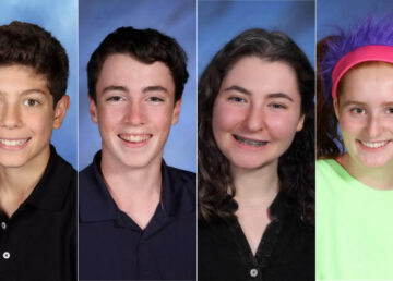 High school students in Irvington New York