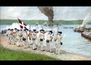 Revolutionary War painting