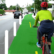 Bike lane rendering in Sleepy Hollow