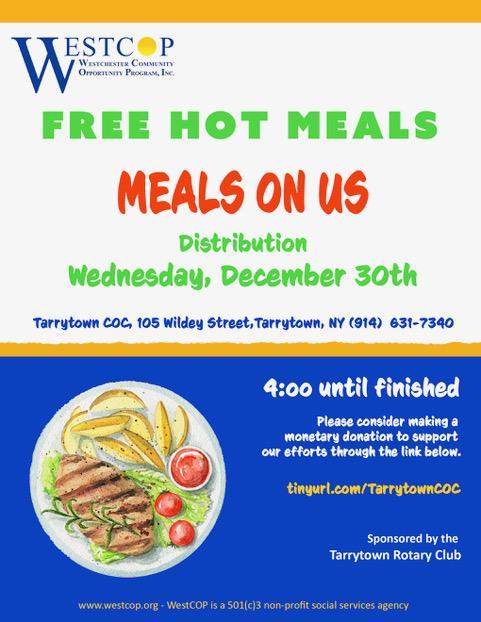 Free Hot Food in Tarrytown