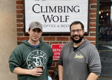 Chris (left) and J.B. Gomez, co-owners of the Climbing Wolf Coffee and Beer Bar.