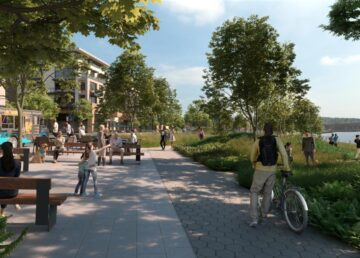 Sleepy Hollow new park along the Hudson River in Westchester County - Riverwalk will continue