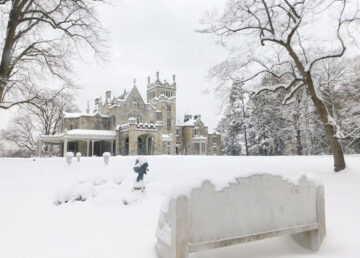 Lyndhurst in winter - Tarrytown, NY - Westchester County