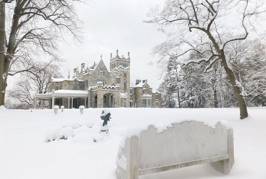 Lyndhurst in Wintertime: A Snowy Wonderland Outside/Deep Cleaning and Restoration Inside