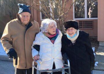 Centenarians Armandio Chick Galella, Mary Middleton and Jean MacIntosh