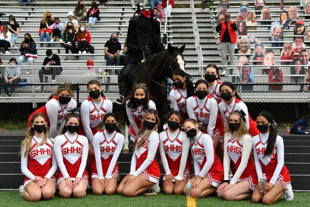 The Headless Horseman & SHHS cheerleaders - photo by Abby Oppenheim