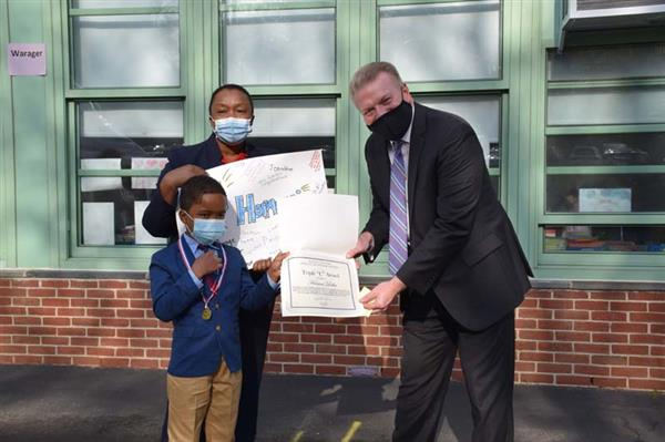 Dows Lane Second Grader Honored