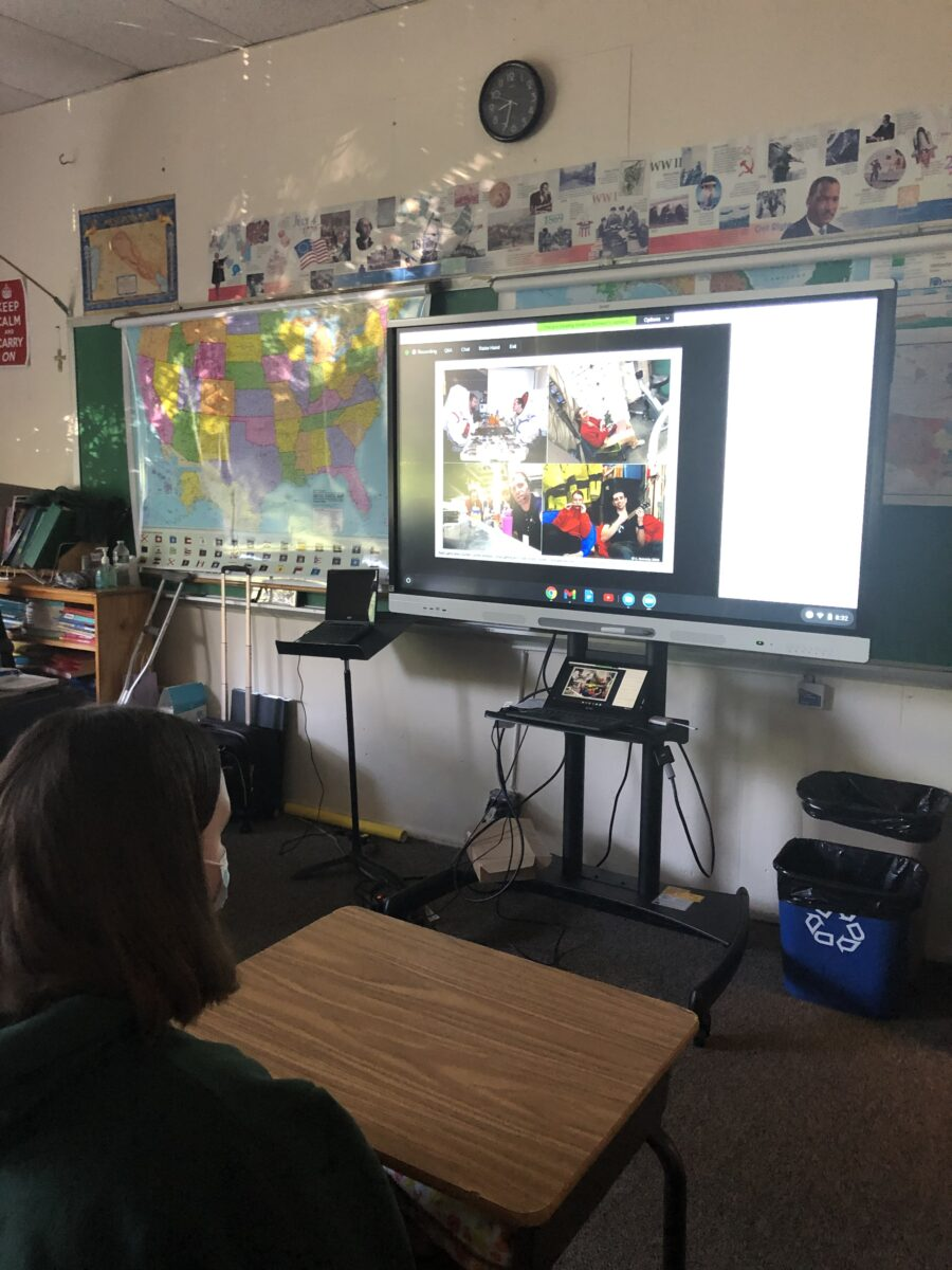 Transfiguration School Students Connect with International Space Station