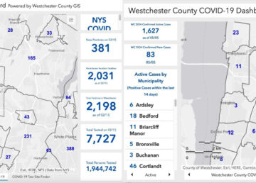 Westchester Covid map